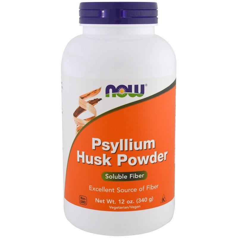 Подорожник (Psyllium Husk), порошок, Now Foods