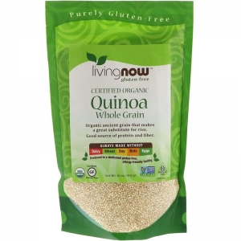 Киноа органическая, Quinoa, Now Foods, 454 г