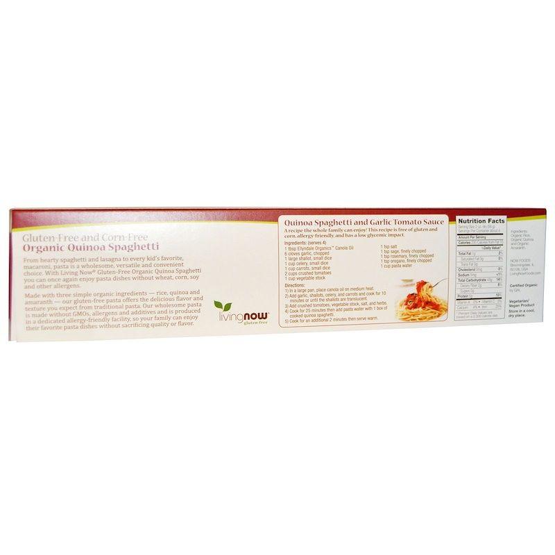 Органические спагетти из лебеды, Now Foods, 227 г