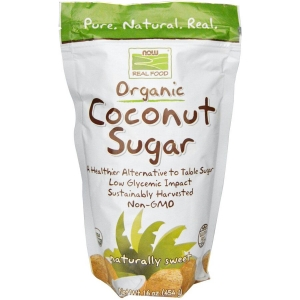 Кокосовый сахар, Coconut Sugar, Now Foods, 454 г