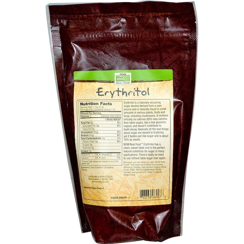 Эритритол (сахарозаменитель), Now Foods, 454 г