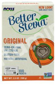 Стевия, BetterStevia, Now Foods, 100 пакетов, 100 г