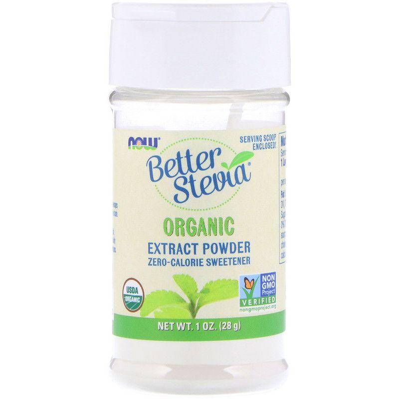 Стевия (экстракт), Better Stevia, Now Foods, органик, 28 г