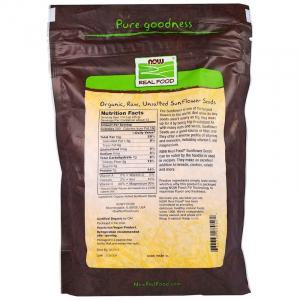 Семена подсолнечника (сырые), Sunflower Seeds, Now Foods, 454 г