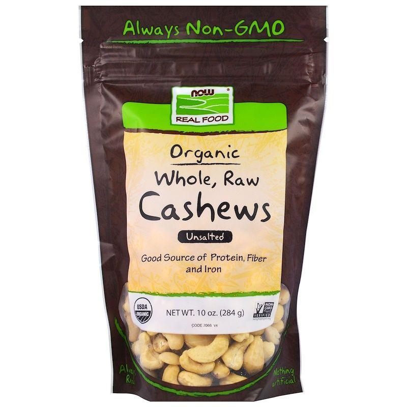 Кешью орехи (сырые), Now Foods, 284 г