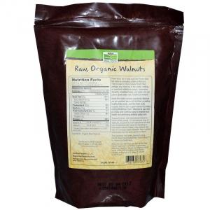 Грецкие орехи (органик), Now Foods, 340 г