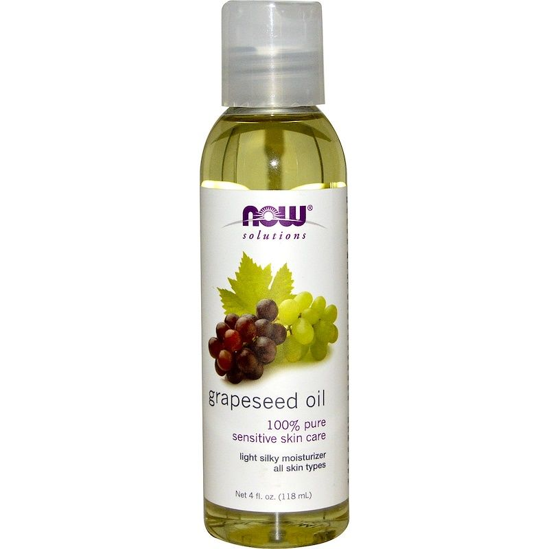 Масло виноградных косточек (Grapeseed Oil), Now Foods, Solutions, 118 мл