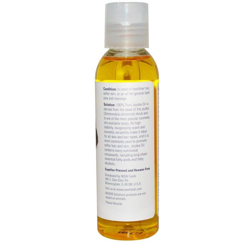 Масло жожоба (Jojoba Oil), Now Foods, Solutions, 118 мл