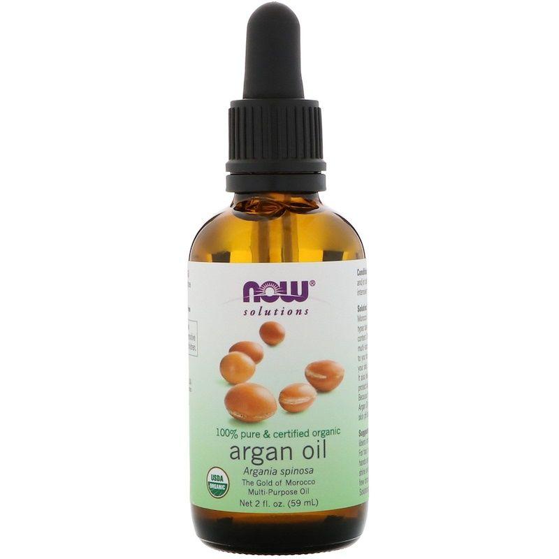 Аргановое масло, Argan Oil, Now Foods, Solutions, органик, (59 мл)