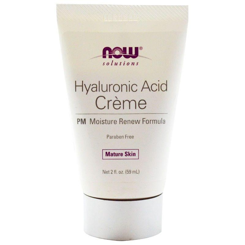 Крем ночной с гиалуроновой кислотой, Hyaluronic Acid Creme, Now Foods, Solutions, (59 мл)