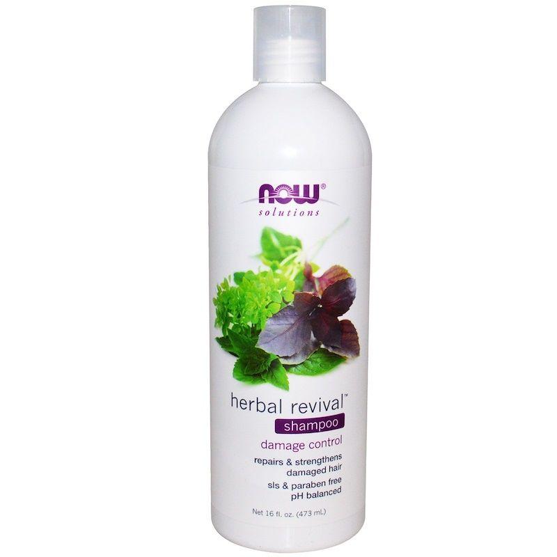 Шампунь для волос (травяной), Shampoo, Now Foods, Solutions, 473 г