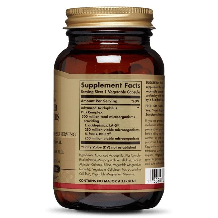 Пробиотики, Advanced Acidophilus Plus, Solgar