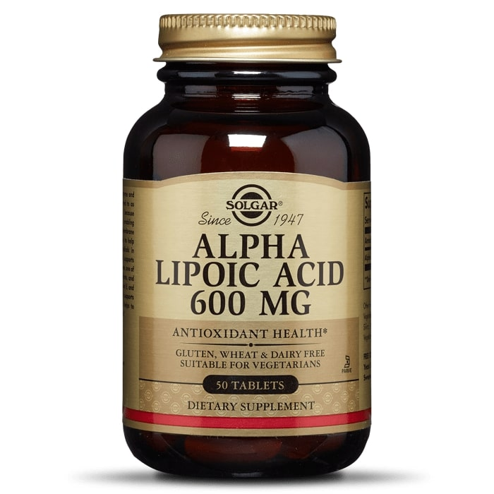 Альфа-липоевая кислота, Solgar, 600 мг, 50 таб.