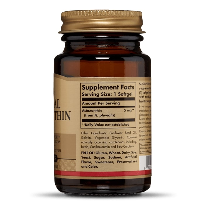 Астаксантин, Solgar, 5 мг.