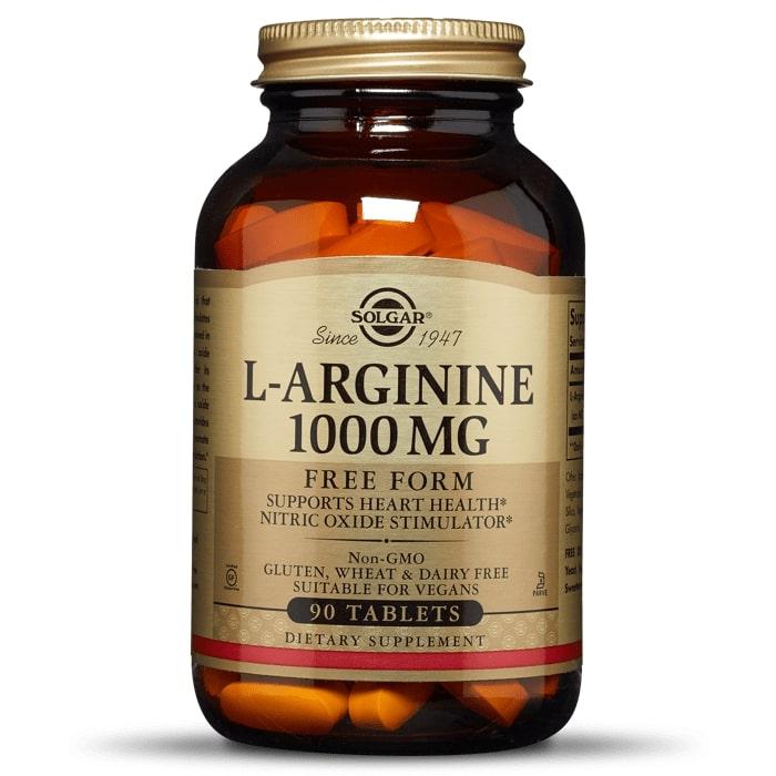 Aргинин, Solgar, 1000 мг, 90 таблеток