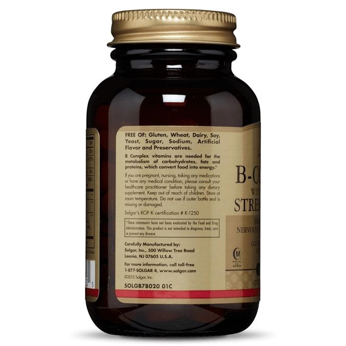 Комплекс витаминов В, Solgar, стресс формула