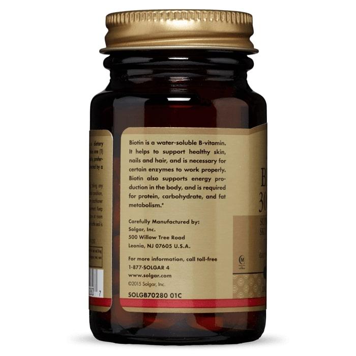 Биотин, Solgar, 300 мкг, 100 таблеток