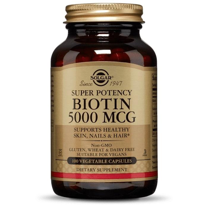 Биотин, Solgar, 5000 мкг.