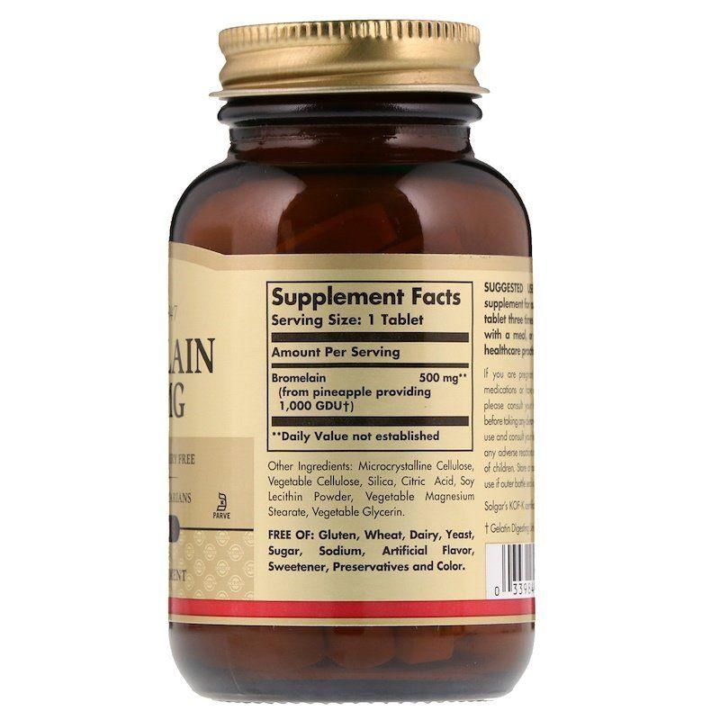 Бромелайн, Solgar, 500 мг, 60 таблеток
