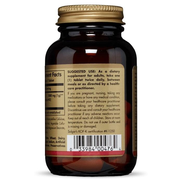 Ацетил -L карнитин, Solgar, 1000 мг, 30 таблеток