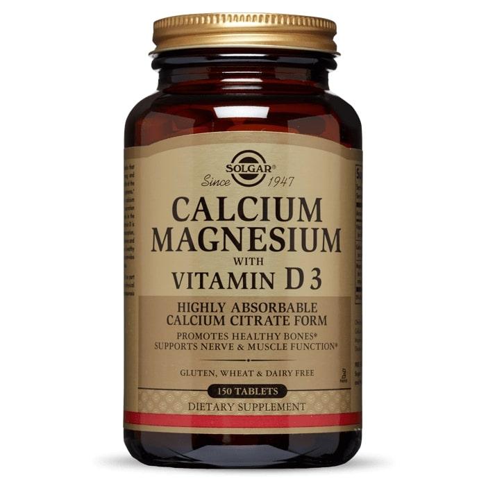 Кальций и магний с витамином D3, Solgar