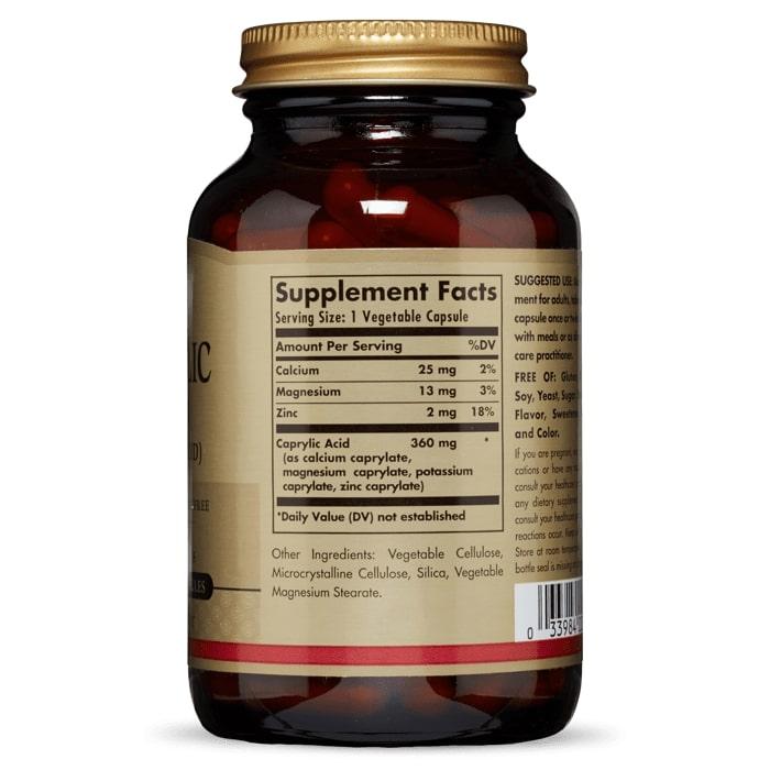 Каприловая кислота, Solgar, 100 таблеток