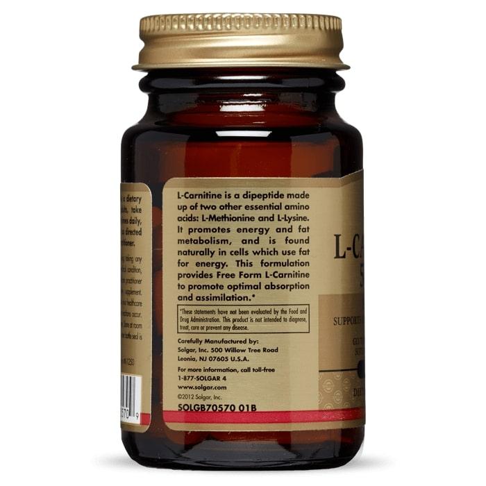 L-карнитин, Solgar, 500 мг.