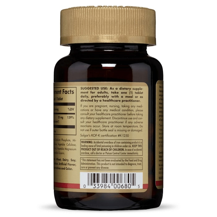 Железо, Solgar, 100 таблеток