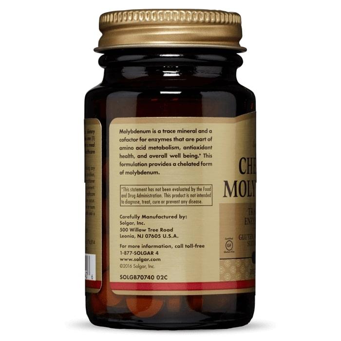 Молибден, Solgar, 100 таблеток