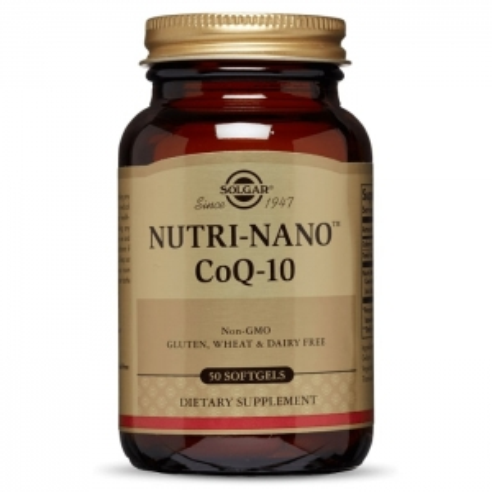 Нутри-нано  Q10, Solgar 3.1x, 50 гелевых капсул