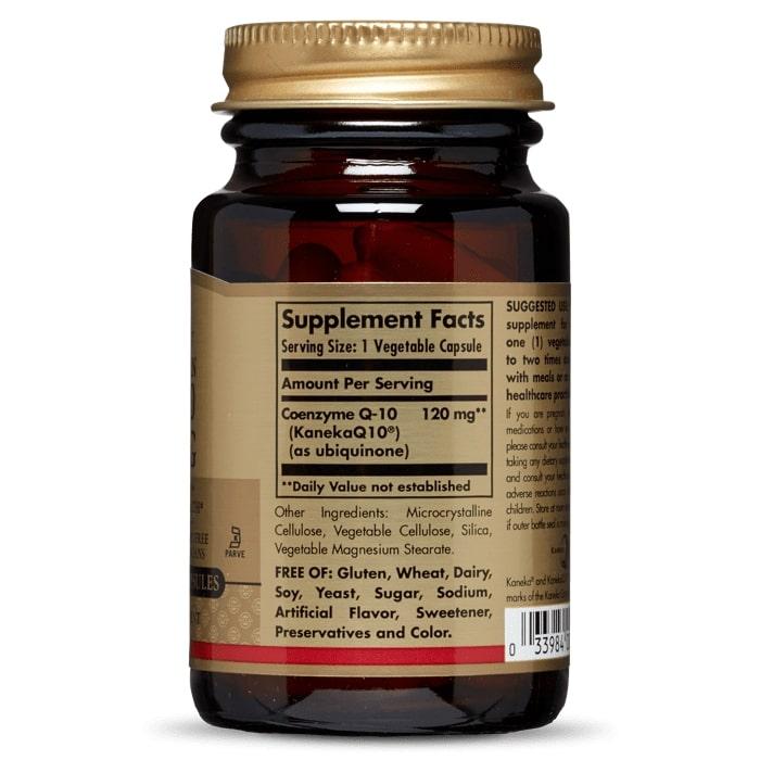 Коэнзим Q10 вегетарианский, Solgar, 120 мг, 30 капсул