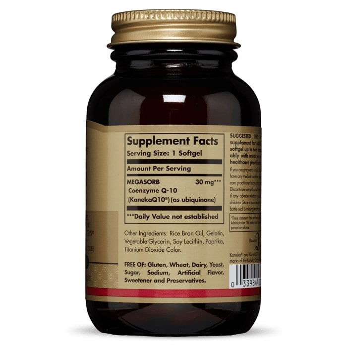 Коэнзим Q10 Мегасорб, Solgar, 30 мг, 120 капсул