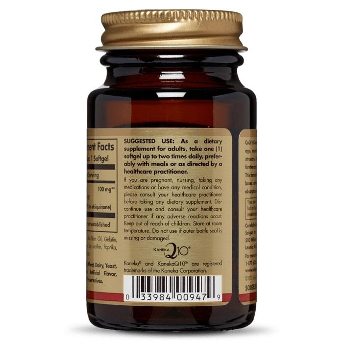 Коэнзим Q10 мегасорб, Solgar, 100 мг, 30 капсул