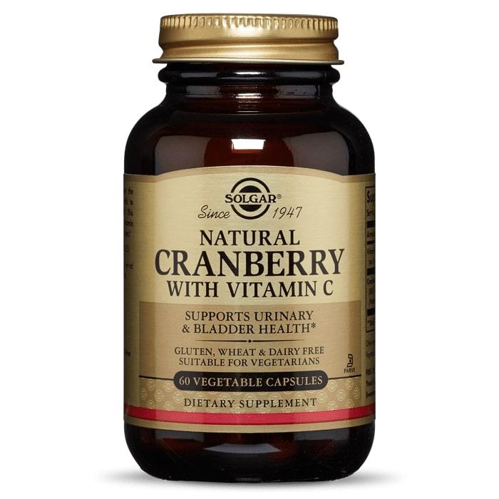 Клюква + витамин С, Solgar, 60 капсул