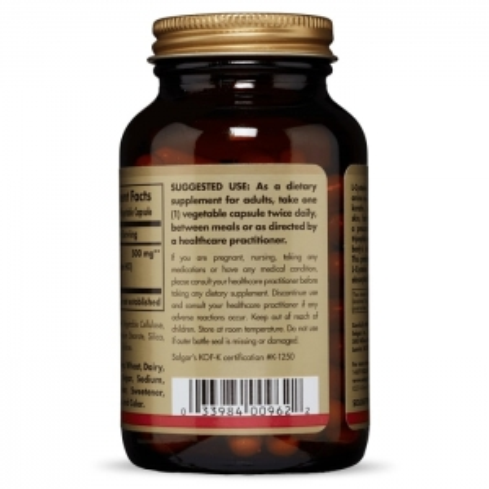 L-цистеин, Solgar, 500 мг, 90 капсул