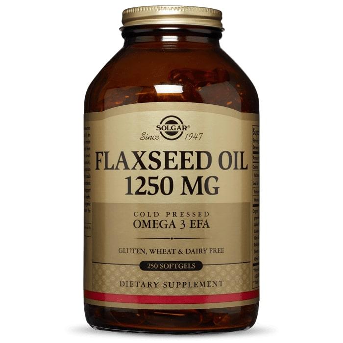 Льняное масло, Solgar, 1250 мг.