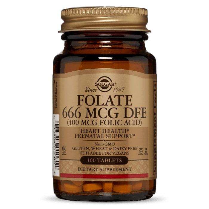 Фолиевая кислота, Solgar, 400 мкг.