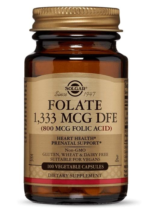 Фолиевая кислота, Solgar, 800 мкг.
