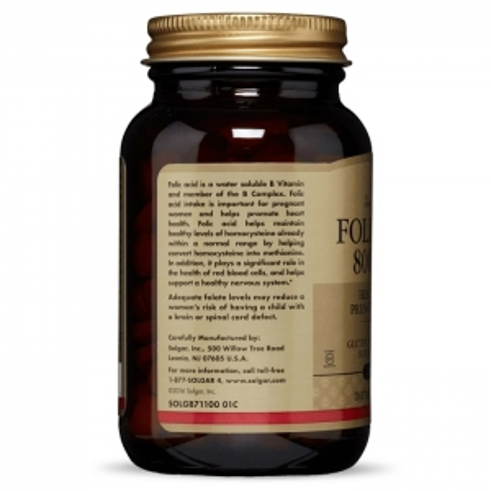 Фолиевая кислота, Solgar, 800 мкг, 250 таблеток