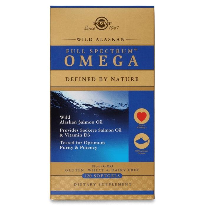 Рыбий жир из лосося, Омега 3, Solgar, 120 капсул