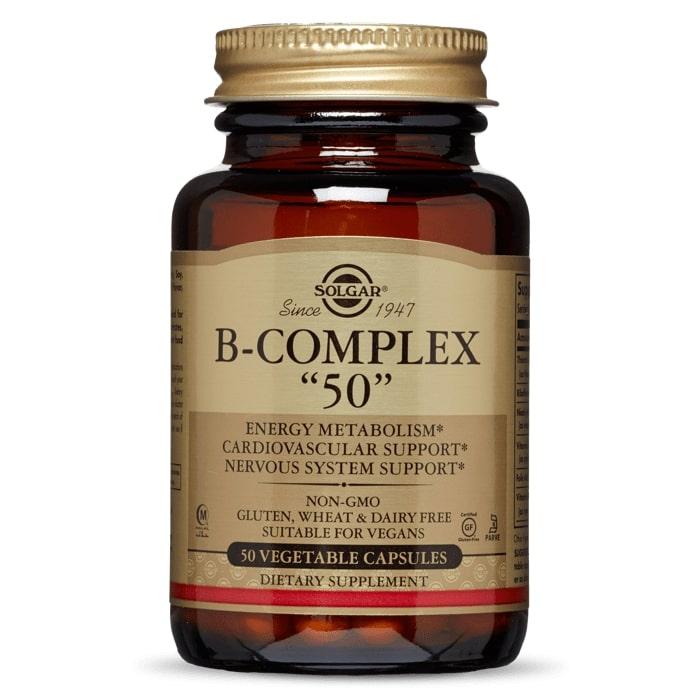 Комплекс витаминов группы В-50, Solgar