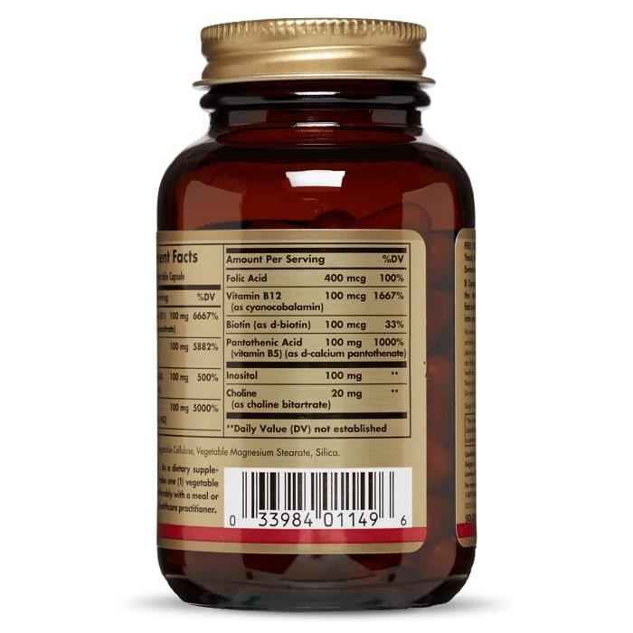 Витамин В-100 комплекс, Solgar
