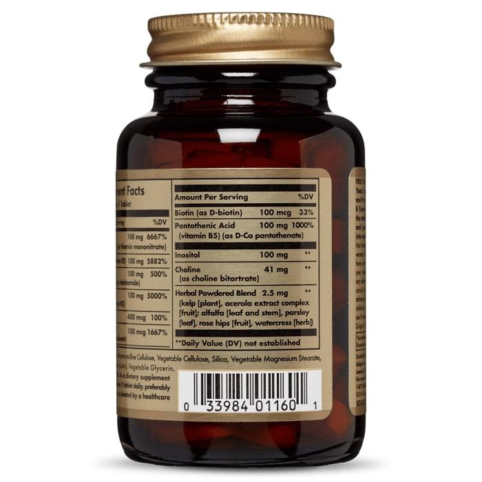 Витамины В-100 комплекс, Solgar