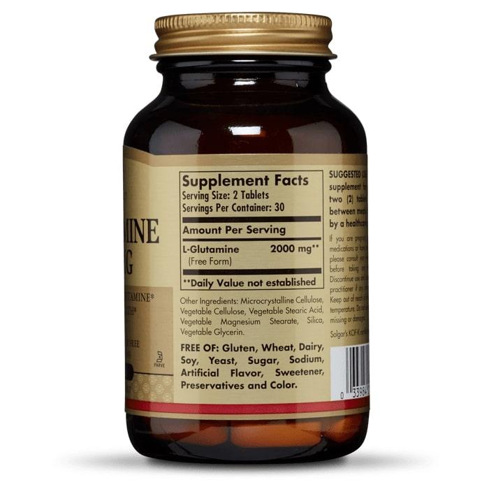 L- глютамин, Solgar, 1000 мг, 60 таблеток